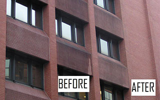 High Rise Pressure Washing Charleston Before and After