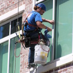 window cleaning high rise
