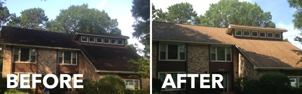 Residential Roof Cleaning Difference in Charleston SC